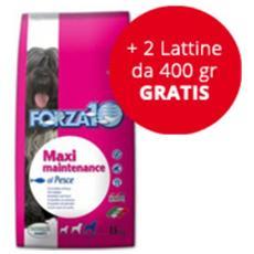 Cibo per cani Maxi Maintenance al Pesce 15 kg + 2 lattine da 400 gr