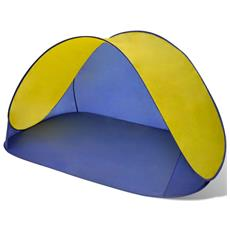 Tenda Per La Spiaggia Pieghevole Impermeabile Gialla