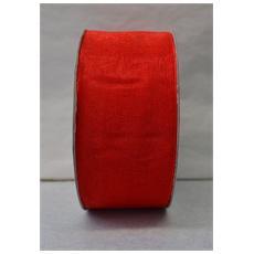 Nastro Rosso Organza H Mm42 Mt50