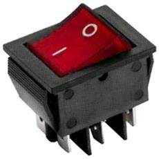 Interruttore Universale 16a-250v Bip Rosso / Red