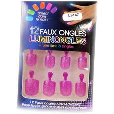 plank unghie finte 'luminongles' rosa viola - [ l9147]