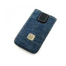 Raw Denim Custodia a tasca Blu