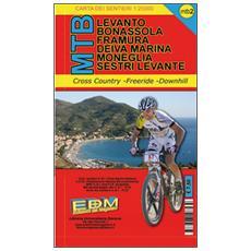 MTB-2 Levanto. Carte dei sentieri di Liguria per mountain bike MTB VTT