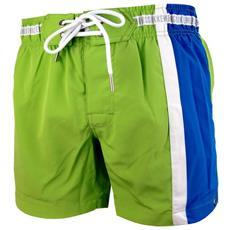 Boxer Mare Uomo Con Banda Laterale Verde Blu Xl