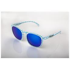 Craquele Blu / bianco