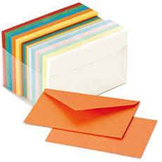 scatola 100 cartoncini 200gr + 100 buste 90gr arcobaleno formato 9 favini
