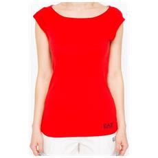 T-shirt Donna Sea World Stretch L Rosso