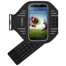 GXS4-AB-GRY Fascia da braccio Nero, Grigio custodia per cellulare