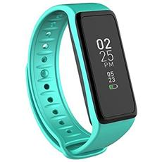 Activity Tracker ZeFit3 Impermeabile Display TFT con Bluetooth per Fitness Turchese - Europa