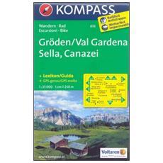 Carta escursionistica n. 616. Val Gardena, Sella, Canazei 1.25:000. Adatto a GPS. DVD-ROM. Digital map