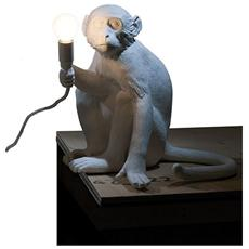 Lampada da Tavolo in resina MONKEY LAMP Seduta 34 x 30 x h32 cm