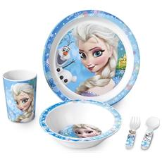 Confezione 5 Pezzi Bimbo Melamina Frozen Mondo Baby