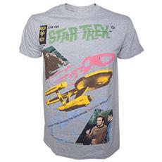 Star Trek - Grey Melange Alien Invading (T-Shirt Unisex Tg. XL)