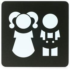 Segnaletica Targa Area Bambini Pittogrammi 16X16 Con Adesivo