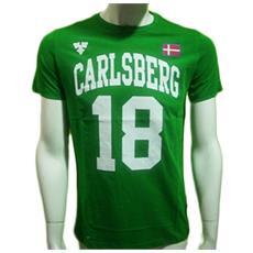 T-shirt Stampa Logo Uomo M Verde