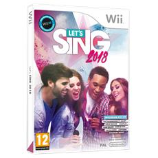 WII - Let's Sing 2018 + 1 Microfono