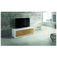 Porta Tv 170x45 H. 50 Con Effetto Frassinato