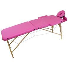 Lettino Massaggio 2 Zone Leggero - Rosa