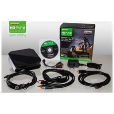 HD PVR 2 Gaming Edition, 1080i, 1080p, 480i, 480p, 576i, 576p, 720p, AVCHD, H. 264, MP4, ArcSoft ShowBiz Personal Logo, CD-ROM, 2.0 GHz, Video component, USB