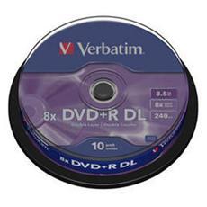 DVD+R DL Spindle 10pz 8x 8.5GB / 240'