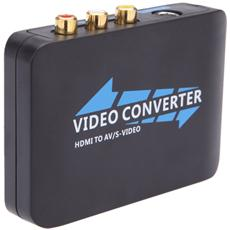 Hdmi To Rca Composite Av Converter With S-video Output Pal / Ntsc Multi-system - Black