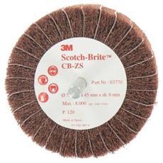 Scotch-brite Pennello Cb-zs 120 Diametro Di Grano 75 Millimetri X 5