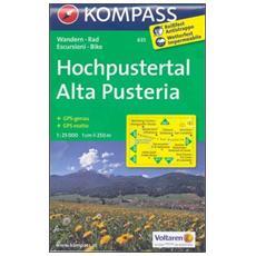 Carta escursionistica n. 635. Alta PusteriaHochpustertal 1:25.000. Adatto a GPS. DVD-ROM. Digital map