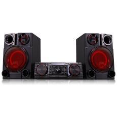 Sistema Mini Hi-Fi CM8360 Lettore CD / DVD Supporto MP3 / WMA Potenza totale 2200W Bluetooth USB