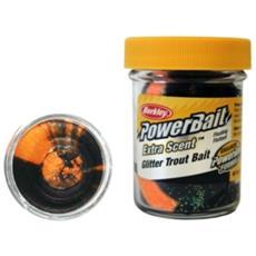 Pasta Powerbait Glitter Trout Bait Unica Nero Arancio