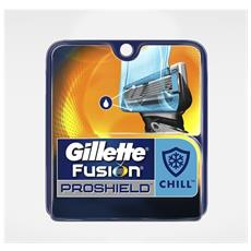 Confezione 3 Lame Di Ricambio Per Rasoio Uomo Fusion Proshield Chill - 132186