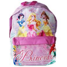 Zaino Americano Principesse Disney Colore Rosa Bambine Asilo Tempo Libero Scuola