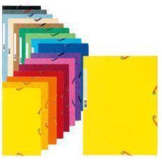 confezione da 50 pezzi - cartella con elastico 24x32cm mix 10 colori cartoncino lustre' 425gr