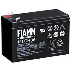 IC-12FGH36 - Batteria al Piombo 12V 9Ah (Faston 6,3mm)