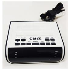 Radio Sveglia Da Comodino 208 Digitale Orologio Allarme Lcd Radio Am Fm Display 0.6 Pollici Elettrica