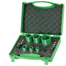 752171, Set, Alluminio, Ghisa, Rame, Cartongesso, Plastica, Acciaio inossidabile, Legno, Verde, Grigio, Bimetal, High-speed steel (HSS) , Attacco esagonale