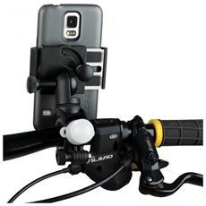 JB01391, Telefono cellulare / smartphone, Bike / Car, Nero, ABS sintetico, Gomma, Silicone, Acciaio inossidabile, Elastomero Termoplastico (TPE)
