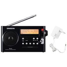 PR-D7 FM AM Radio Digitale Portatile Orologio Sveglia Timer Colore Nero
