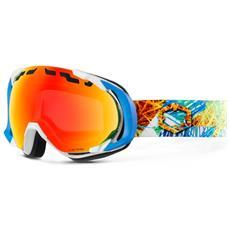 Maschera Snowboard Edge Funky Bianco Azzurro Taglia Unica