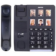 TF540 Telefono a Filo con Pulsanti Grandi Display LED Vivavoce Colore Nero