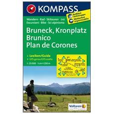 Carta escursionistica n. 045. Plan de Corones, BrunicoKronplatz, Bruneck 1:25.000. Adatto a GPS. DVD-ROM. Digital map