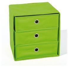 Portaoggetti Con 3 Cassetti Colore Verde