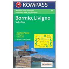 Carta escursionistica n. 96. Bormio, Livigno, Valtellina. Adatto a GPS. DVD-ROM. Digital map