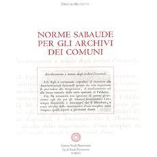 Norme sabaude per gli archivi dei comuni