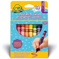 Colora Mini Kids 16 Pastelli a Cera Triangolari Lavabili 0783