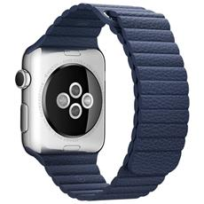 Loop in Pelle da 42mm Large - Blu Notte