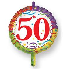Palloncino Mylar 50 Compleanno Ø 45 Cm