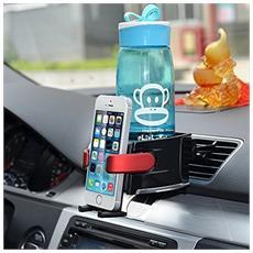Supporto Smartphone Porta Bottiglia Per Bocchette Aria Auto Cellulare Universale Antiscivolo Colore Casuale
