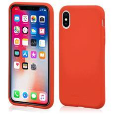 Custodia Antiurto per Apple iPhone X Sottile e Flessibile Italian Design Colore Rosso