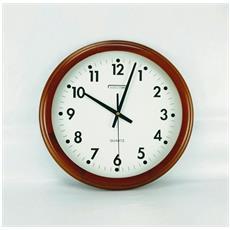 Orologio Da Parete Tondo Legno E Vetro St22508