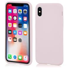 Custodia Antiurto per Apple iPhone X Sottile e Flessibile Italian Design Colore Sabbia rosa